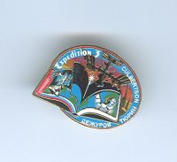 Expedition 3 ISS International Space Station Mission Lapel Pin Official NASA